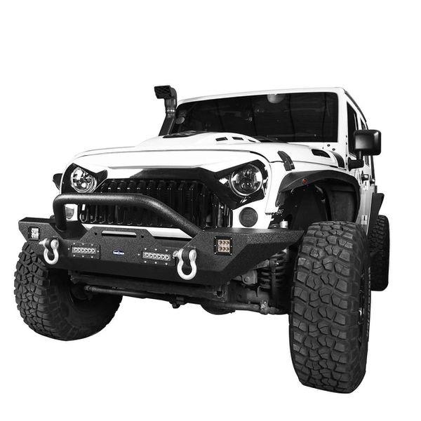Front Bumper w/Winch Plate(07-18 Jeep Wrangler JK)