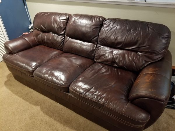 Very comfortable brown Leather couch . Lightly used