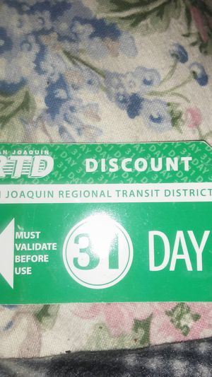 31 day bus pass with 3 free 1 day passes for Sale in Stockton, CA