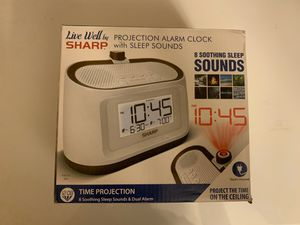 New Sharp Projection Alarm Clock with Soothing Nature Sleep Sounds – Easy to Read Projection on Wall or Ceiling – 8 Sleep Sounds to Help Fall Asleep for Sale in Fort Lauderdale, FL