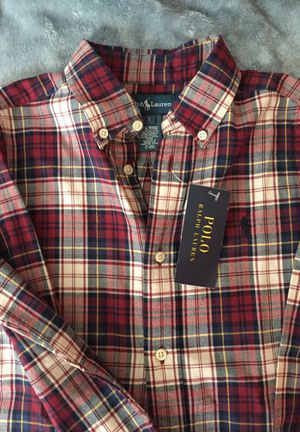 Boy's POLO Multicolor Plaid Flannel L/S Shirt (Sz 7) for Sale in Fort Washington, MD