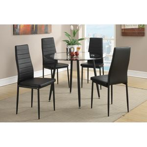 5 Pcs DINING TABLE BLACK for Sale in Hialeah, FL