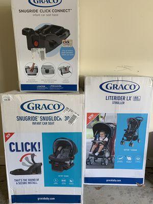 BRAND NEW Graco stroller, car set, additional car seat base for Sale in Midland, GA