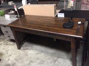 Large Rustic Brown Office Desk, H675-44 for Sale in Norwalk, CA
