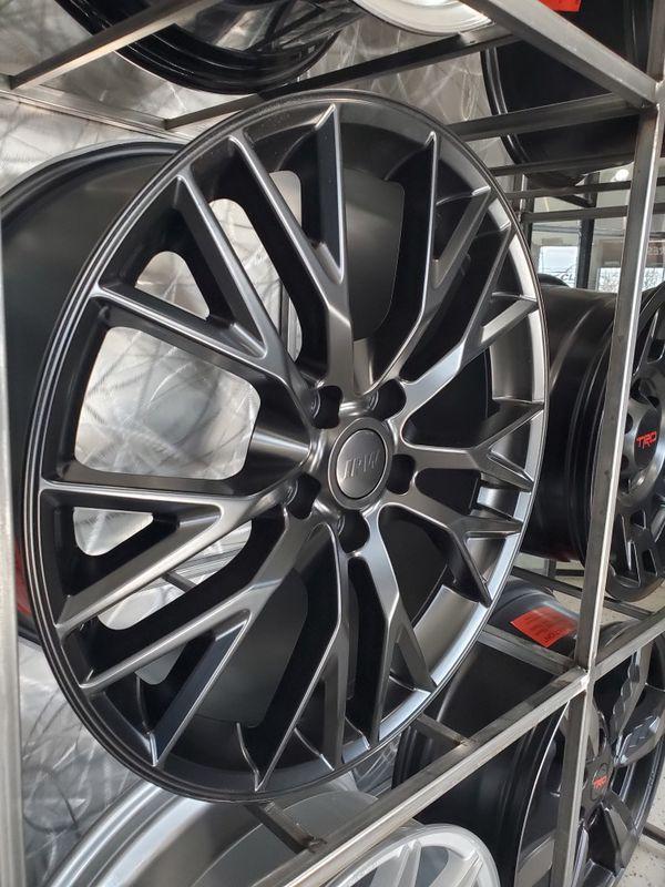 PRICE PER WHEEL 19 & 20 Corvette Z06 Style wheels matte black rims