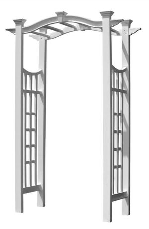 New England Arbors Florence Vinyl Arbor - White. New in Box. Assembly Required for Sale in Norfolk, VA