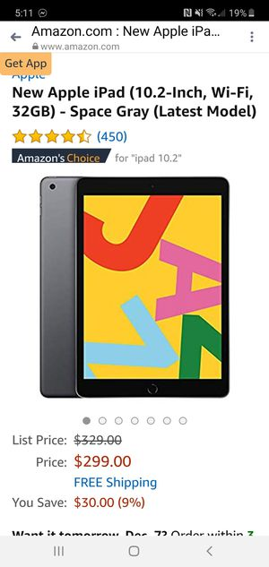 Apple tablet for Sale in CARPENTERSVLE, IL