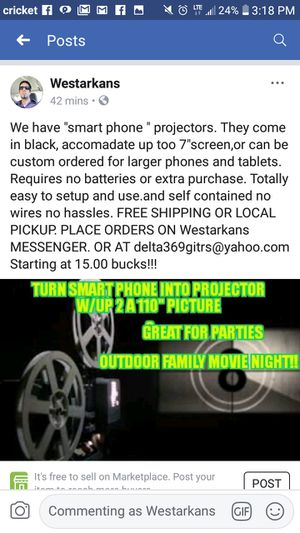 Cell phone projector for Sale in Fort Smith, AR