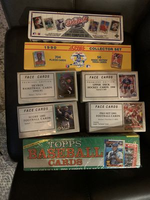 Baseball cards football cards basketball cards all unopened sets and packs for Sale in San Diego, CA