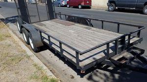 6.5 x 16 FOOT FLAT BED TRAILER UTILITY TRAILER CAR TRAILER HAULER $3300 OBO!! for Sale in Stanton, CA