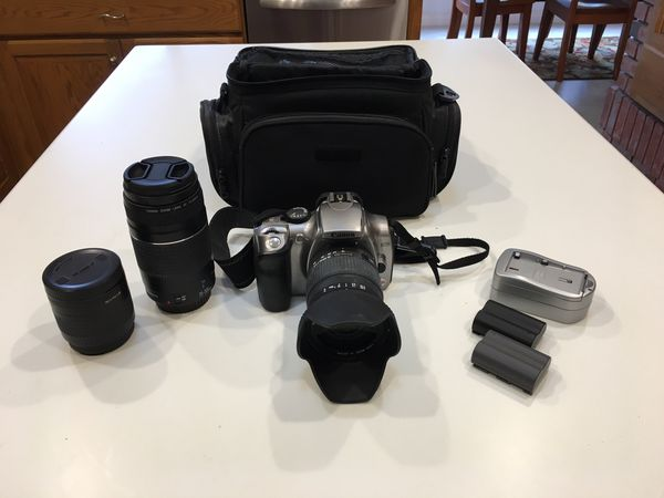 Canon EOS Rebel Digital Camera and Lenses