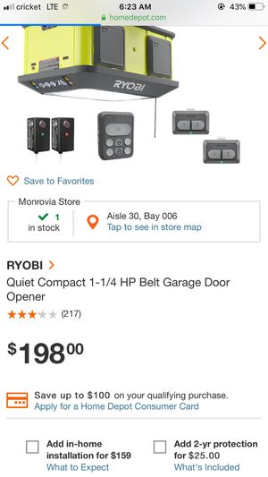 Ryobi Garage door opener for Sale in Fontana, CA