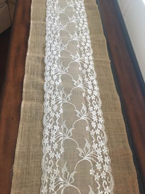 Lace Burlap Table Runners for Sale in Ontario, CA