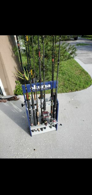 whole lot of fishing gear rod and reels for Sale in Orlando, FL
