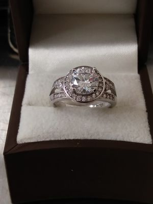 New 925 Solid Sterling Silver Engagement ring size 6 $65 OR BEST OFFER for Sale in Scottsdale, AZ