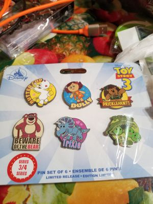 Disney Store Toy Story Pin Set of 6- Limited Release Series 3/4 New for Sale in Houston, TX