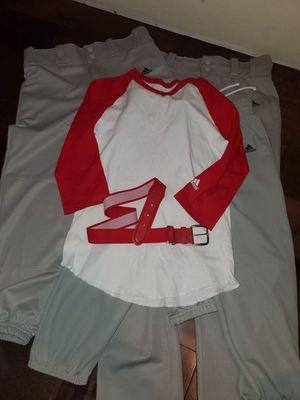 Boys Adidas Baseball pants, belt, and shirt for Sale in Pasadena, CA