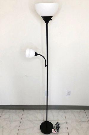 New in box $25 LED 2-Light Floor Lamp 6ft Tall w/ Adjustable Tilt Light Fixtures Home Living Room Office for Sale in Montebello, CA