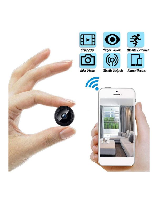 Mini WiFi Spy Camera HD 1080P Wireless Hidden Camera Video Camera Small Nanny Cam with Night Vision and Motion Activated Indoor Use Security Cameras S