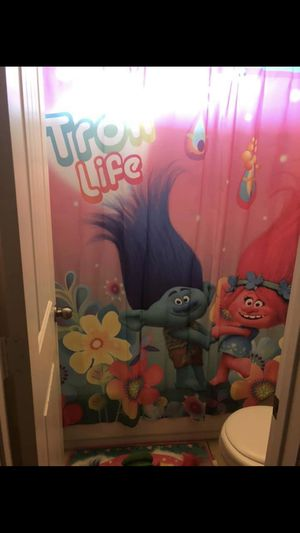 Trolls bedroom/restroom set for Sale in Houston, TX