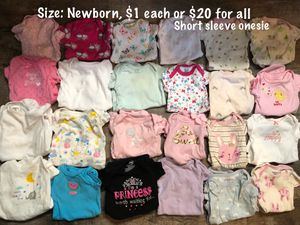 Babygirl lot (prices/sizes on pics) for Sale in Heyworth, IL
