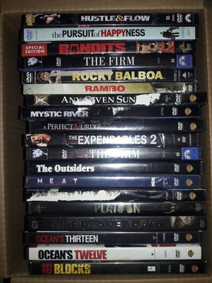 20 GREAT DVD ACTION TITLES ☆RAMBO☆THE FIRM☆EXPENDABLES☆OCEANS 12☆ MORE MORE MORE B/D for Sale in Duluth, GA
