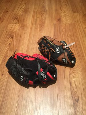 2 Rawlings youth Baseball Gloves for Sale in Austin, TX