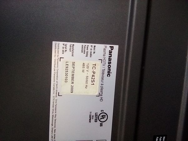 "Panasonic 50"" hd tv"