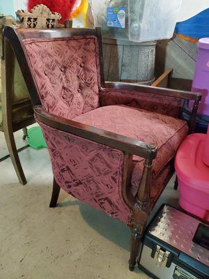 Maroon wingback chair for Sale in Glendale, AZ