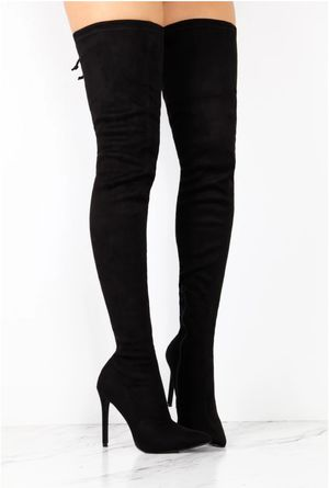 Black Thigh High Boots for Sale in Atlanta, GA