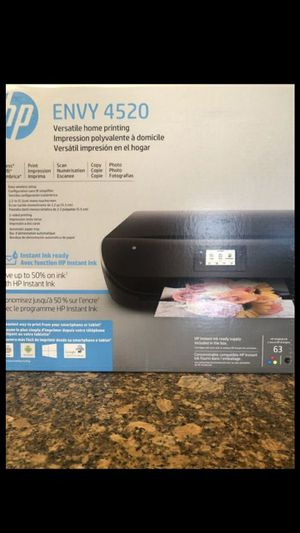 BRAND NEW SEALED HP ENVY 4520 WIRELESS ALL-IN-ONE INSTANT INK READY TOUCH SCREEN -PRINTER WITH SCANNER AND COPIER & MORE -BLACK FIRM $70 EACH for Sale in Fontana, CA