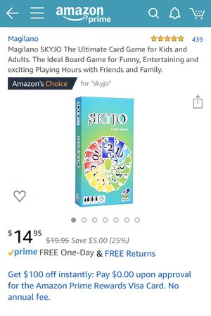 SKYJO The Ultimate Card Game for Kids & Adults. The Ideal Board Game for Funny, Entertaining & exciting Playing Hours w/Friends & Family for Sale in Coral Gables, FL