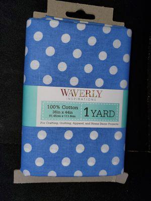 Blue polka dot cotton fabric for Sale in Dixon, MO