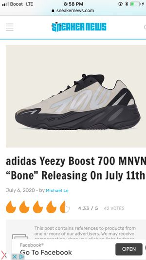 I have a pair of brand new Yeezy's Kanye West shoes still in the box for Sale in St. Louis, MO