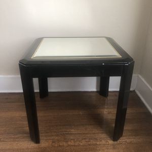 Two black tables with glass tops. for Sale in Enfield, CT