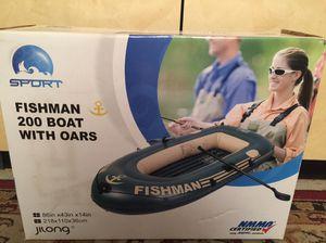 Fishman 200 boat with oars for Sale in Buffalo Grove, IL