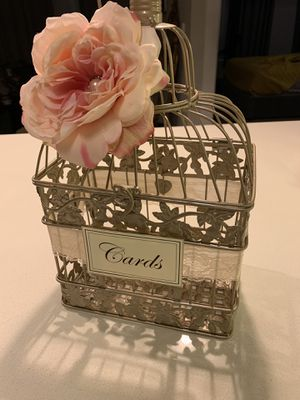 Bird cage card box for Sale in Denver, CO