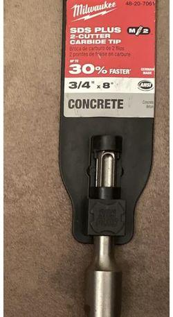 Milwaukee M/2 2-Cutter SDS-Plus Rotary Hammer Drill Bit 3/4inx6inx8in 48-20-7061 for Sale in Glen Burnie,  MD