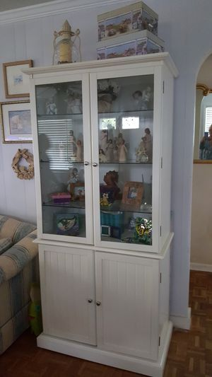 Beautiful x 2 ..Glass shelving ..great storage for Sale in Virginia Beach, VA