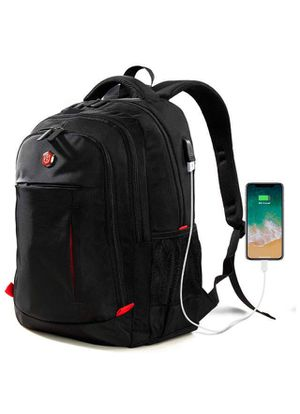 Laptop Backpack, Travel Waterproof Computer Bag for Women Men, Anti-theft High School College Bookbag, Business Fashion Backpacks with USB Charging P for Sale in Corona, CA