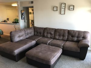 Sectional Couch with Ottoman for Sale in Hayward, CA