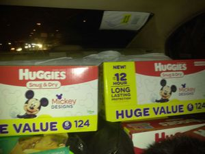 2 boxes of huggies size 6 124 COUNT and pampers 504 count wipes for Sale in Kent, WA