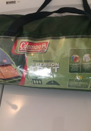 Coleman 3 person tent 8 by 7 ...used one time...everything is there...$65.00 or obo for Sale in Whittier, CA