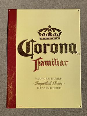 New Corona Familiar Metal Beer Bar tin Sign for Sale in Chino Hills, CA