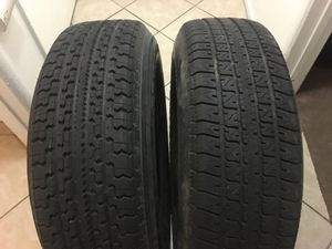 2 used trailer tires ST225-75-15 for Sale in Riverside, CA