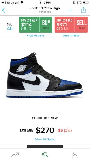 LOOKING TO BUY ALL JORDAN 1 ROYAL TOES, ANY SIZE for Sale in Wallingford, CT