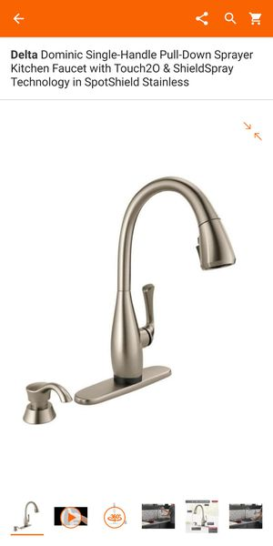 Kitchen faucet ...DELTA BRAND...touch sense for Sale in Grand Prairie, TX