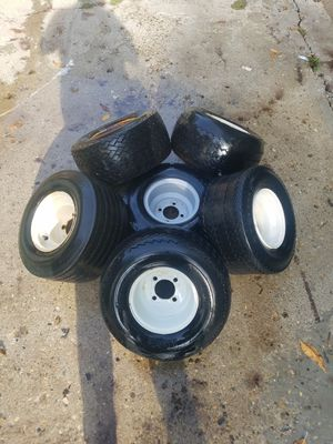 Assorted golf cart wheels and tires for Sale in Greenwood, IN