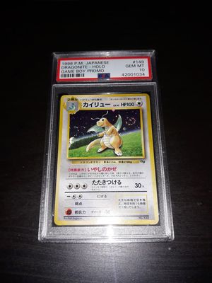 Pokemon Dragonite Japanese Game Boy Promo PSA10 GEM Mint for Sale in Queens, NY