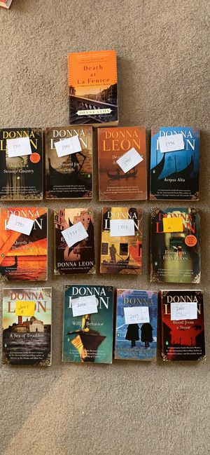 DONNA LEON BOOKS (22) in total some Hardcover and some paperback for Sale in PA, US